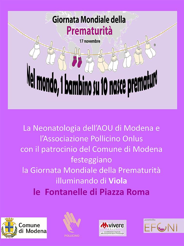 GIORNATA MONDIALE DELLA PREMATURITÀ - Modena